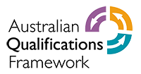 Australian Qualifications Framework (AQF) Logo small